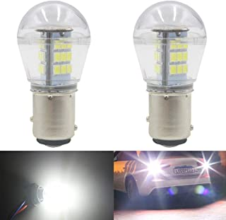 AMAZENAR 2-Pack 1157 BAY15D 1016 1034 7528 2057 2357 Extremely Bright White LED Light 9-30V-DC, 2835 33 SMD Replacement Bulbs For Interior RV Camper Tail Back Up Reverse Bulbs Day Running Light