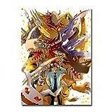 Hengyangshizheng 1000 Piezas Puzzles Rompecabezas de Madera Digimon Anime Lanza Colorido niños Adultos Juego Regalo interesantes Amigo