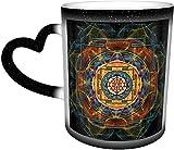 La tazza cambia colore sensibile al calore Sri Yantra nel cielo Tazze da caffè Tazza in ceramica Regali personalizzati per gli amanti della famiglia Amici