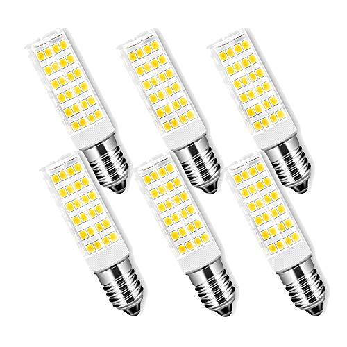 E14-ledlampen 7 W/650 LM, vervanging 65 W halogeenlampen, E14 warmwit 3000 K/AC 220-240 V, led-keramische gloeilampen, koelkastlamp/afzuigkap, niet dimbaar, verpakking van 6 stuks