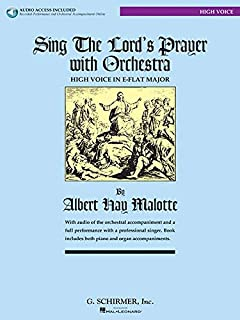 Sing the Lord's Prayer with Orchestra for High Voice (Book with CD)
