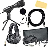 Audio-Technica AT2010 Cardioid Condenser Handheld Microphone Bundle with Pop Filter, XLR Cable, and...