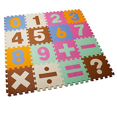 Z-SEAT Alfombra Puzzle Infantil con El Número 0-9 Suave Multicolor EVA Suelo De Espuma para Habitación De Bebé, Sala De Estar, Ejercicio, Gimnasio