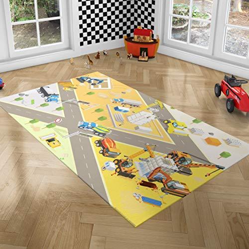 Playground Alfombra Infantil Grande - Alfombra Bebé Gateo - Alfombra Bebé Acolchada - Manta Actividades Bebé - Alfombra Juegos Bebés - Alfombras de Juego y Gimnasios - 100 x 150 cm