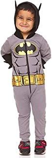 Batman Toddler Costume for Boys with Goldtone Icon Belt 3D Ear and Spikes