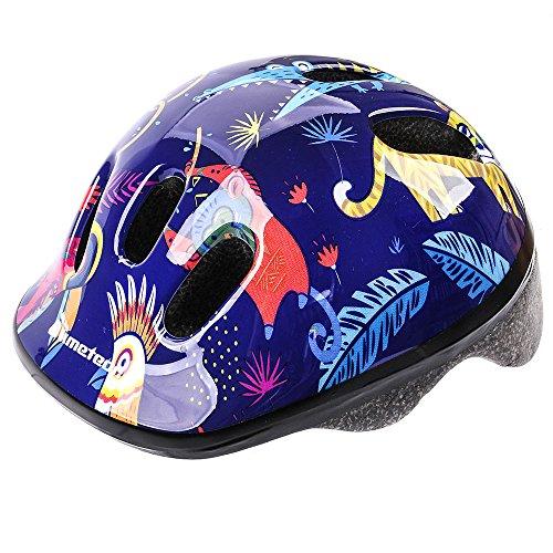 Casco de seguridad pequeño de bicicleta, para niños, color Jungle, tamaño 44-48 cm