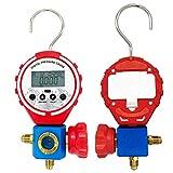 RefrigeracióN Digitalmanifold Gauge Set Bomba De VacíO De Coche ReparacióN De Aire Acondicionado Herramienta De Llenado De FlúOr, para R410a