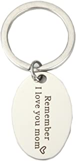 Remember I Love You Mom Pendant Keychain Mom Daughter Jewelry Best Mother's Day Birthday Christmas Gifts from Daughter Son