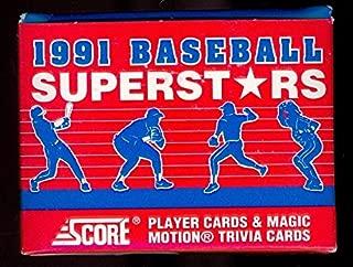 1991 Score Baseball Superstars Complete Box Set Barry Bonds Super Stars
