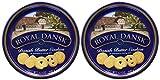 Royal Dansk 81997 Danish Butter Cookies (Pack of 2), Blue Flat Display,...
