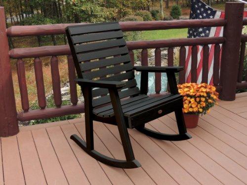 Highwood AD-RKCH2-BKE Weatherly Rocking Chair, Black