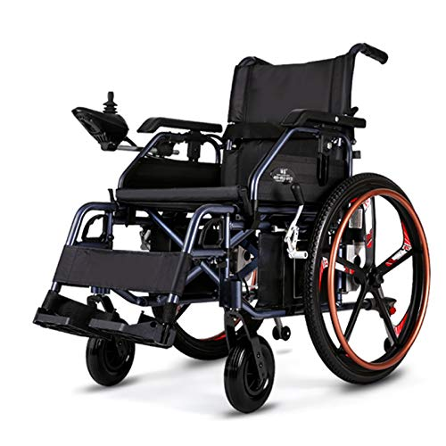 FC-LY Silla de Ruedas eléctrica, Nuevas sillas de Ruedas eléctricas Ultra Ligeras Plegables para Adultos, al Aire Libre Todos los terrenos Motores de sillas de Ruedas motorizadas