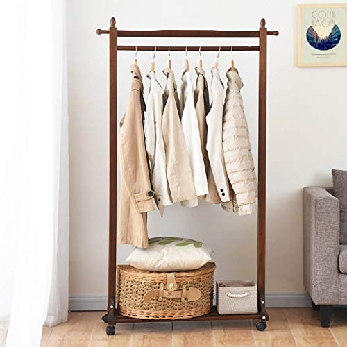 Lfixhssf kledingrek parketvloer kledinghanger uitneembare multifunctionele slaapkamer woonkamer creatieve rek schoenen frame Lfixhssf bruin
