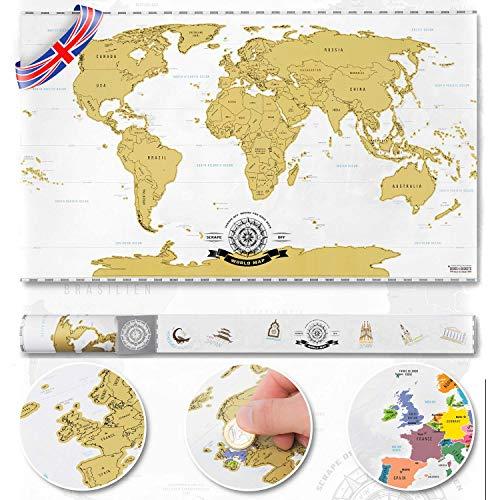 Mapamundi Deluxe rascar - personalizado mapamundi
