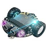 JING Stem Smart Car Robot Kit para Niños DIY Programación Gráfica Educación Juguete Coche Súper Rentable Educativo Aprendizaje Scien, Sin Micro: bit V2 Tablero