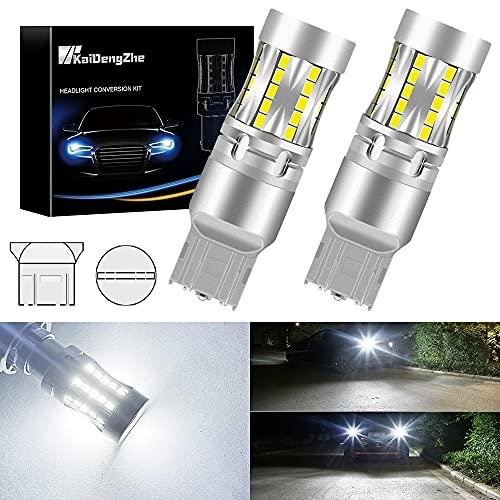 7443 Lampadina a LED, KaiDengZhe W21/5W T20 Lampadine a LED per Auto 46SMD 3020 Chip Canbus Senza Errori Sostituisci per Posizione di Arresto del Freno Parcheggio Luce di Marcia Diurna Bianco - 2PCS