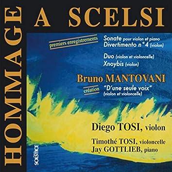 Homage to Giacinto Scelsi