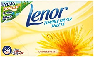 Lenor Tumble Dryer Summer Breeze Sheets - 2 x 34