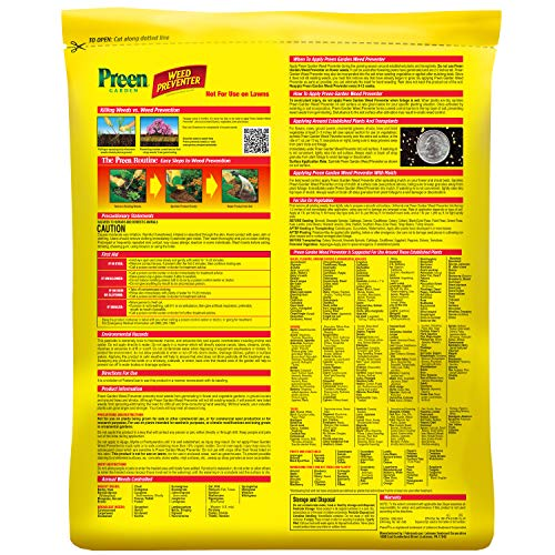 Preen 2464107 24-63798 Weed Preventer, 13 lb. Covers 2,080 sq. ft, yellow
