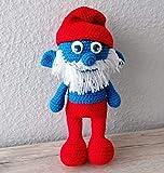 Gehäkeltes Kuscheltier Schlumpf 'Poldi' | Weihnachten & Geschenk