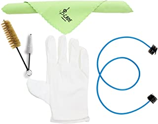 Andoer Brasswind Instrument Trumpet Trombone Tuba Horn Cleaning Set Kit Tool with Cleaning Cloth Brush Gloves