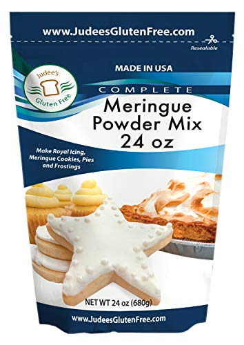 Judee's Meringue Powder Mix (24 Oz): Make Cookies, Pies, and Royal Icing. Complete Mix: Just Add Water. USA Made in a Dedicated Gluten & Nut Free Facility, No Preservatives, (10lb Bulk Size Also)