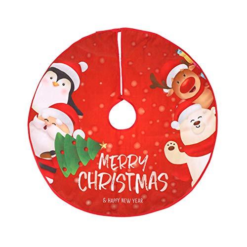 CINMOK Weihnachten Baumdecke Weihnachtsbaumdecke Christbaumdecke Weihnachtsbaum Decken Rund Weihnachtsbaumrock Christmas Tree Skirt Abdeckung für Tannenbaum Schutz vor Tannennadeln Christbaumständer