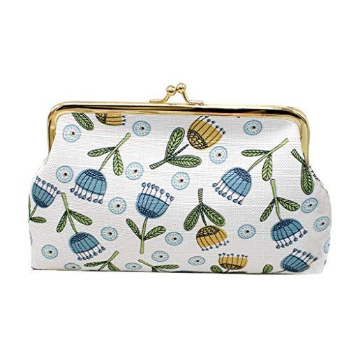 KEYIA Women Print Chain Coin Purse Crossbody Bag Wallet Bag Change Pouch Key Holder