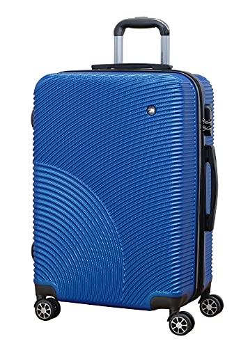 Greenwich - Maletas de Viaje rígida 4 Ruedas Trolleys de abs. Extensible. Dura y Ligera. Candado Combinacion. (Mediana 67cm, Azul Marino)