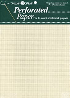 Mill Hill 14 Count Perforated Paper, 9 by 12-Inch, Ecru, 2 Per Package