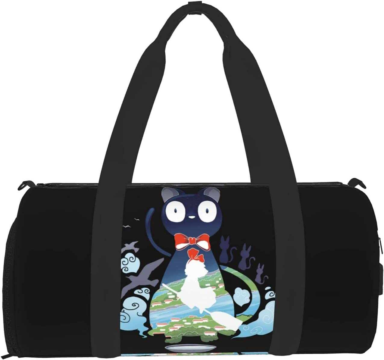 Time sale Anime SEAL limited product Kikis Delivery Service Themed Duffel Bag Gym Unisex