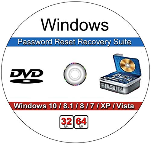 9th & Vine Password Recovery Reset CD Compatible With Windows Versions,10, 8.1, 7, XP and Vista in 32/64 Bit. No Internet Connection Required. Reset Lost Password