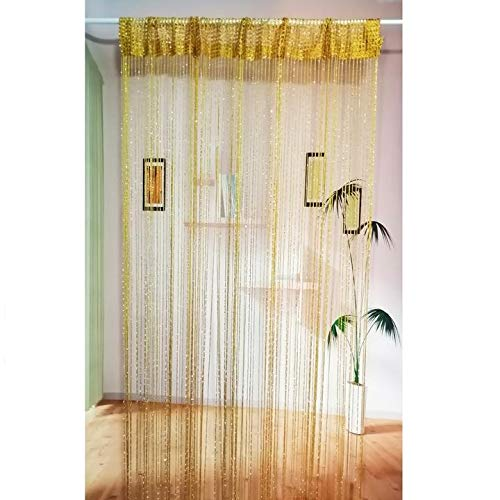 2PACK Decor Glitter String Curtain,39x79 inch Fringe Panels Room Divider,Doorways Closet Blind Living Bedroom Window Wall Panel no Beads Beaded Decorative Crystal Wedding Party Curtains