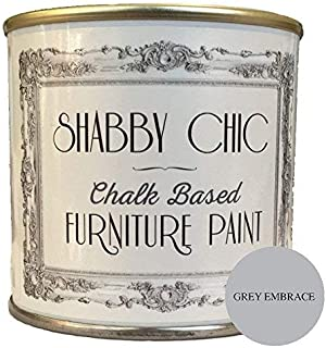 Pintura para muebles de color gris, ideal para crear un estilo shabby chic. 1 litro