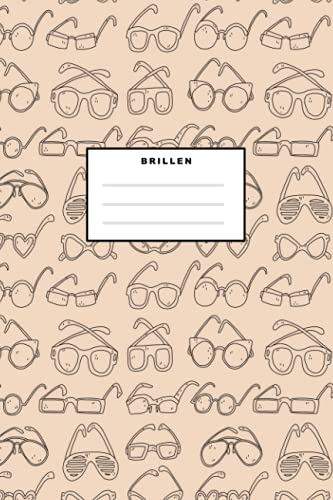 Brillen: Notizbuch (120 Seiten, 15x23cm, gepunktet) Dotted Bullet Grid Tagebuch Journal