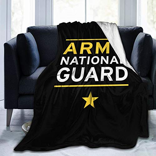 XINDENGSHANG Army National Guard 3D Print Flannel Fleece Blanket Throw Reversible Super Soft Warm Cozy Comforter Blankets Fall Winter Blanket
