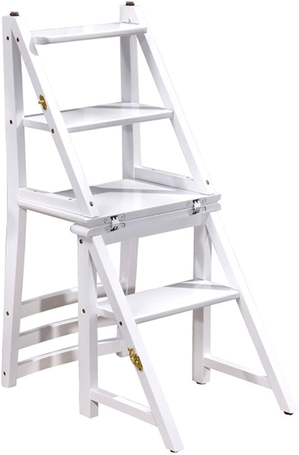 YQRYP Non-Slip Step Stool Double Step Stool Bamboo Folding Ladder Stair Chair Household Multifunction Indoor Household Ascend Small Ladder Stool Slip Resistant,Durable,Household,Outdoor