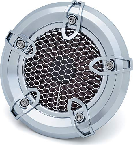 Kuryakyn 9616 Crusher Revolt Air Cleaner/Filter Kit for 1999-2017 Harley-Davidson Twin Cam with Cable Throttle Motorcycles, Chrome