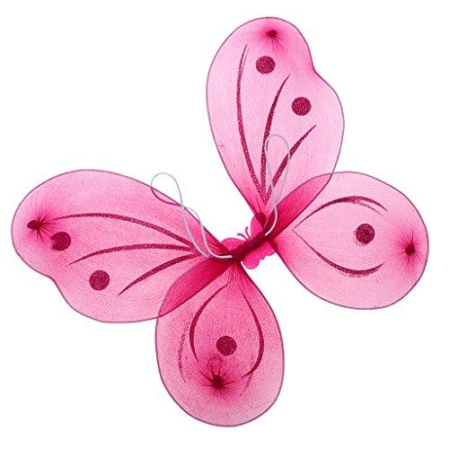 D dolity Hada Alas Mariposa alas marfil alas alas de ángel alas para Carnaval Fiesta y Cosplay, ideal regalo para niños Rose