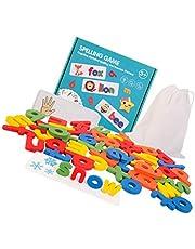 Gadpiparty 1 zestaw pasująca litera gra litera pisownia i nauka gry dopasowany kształt litery gry puzzle Montessori edukacyjne słowo zaklęcie zabawki do nauki