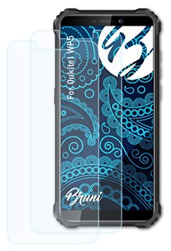 Bruni Schutzfolie kompatibel mit Oukitel WP5 Folie, glasklare Bildschirmschutzfolie (2X)