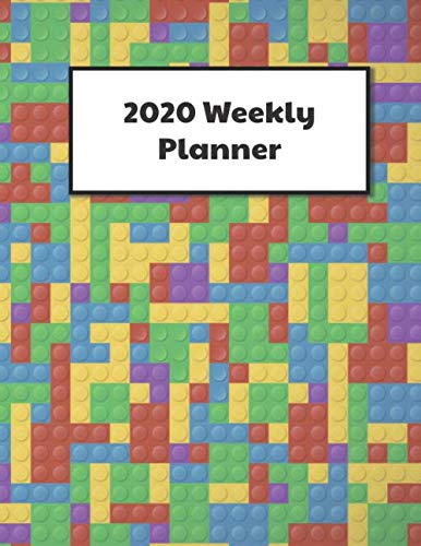 Brick Builder\'s Weekly Planner: 2020 Dated Year Planning with monthly habit trackers, 2 page per week spread