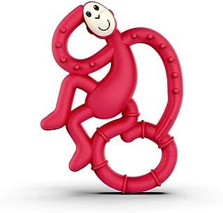 Matchstick Monkey Mini Monkey Teether, Rubine Red