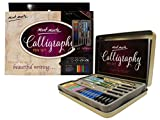MONT MARTE Stylo Calligraphie Set - 4x Stylo Calligraphie, 5x Plume de Calligraphie et bien plus - Excellente Introduction Calligraphie, Handlettering