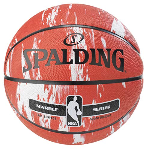 Spalding NBA Marble Series Red Outdoor Basketball 29.5'