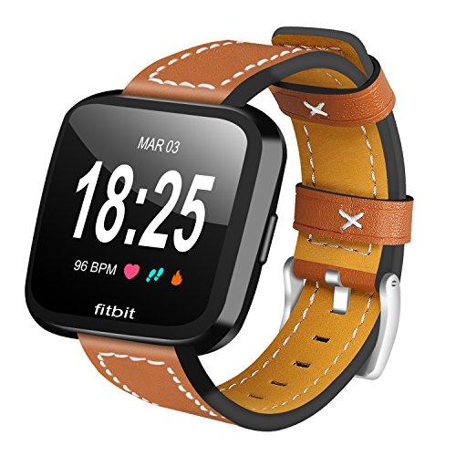AISPORTS - Correa de repuesto para Fitbit Versa 2, correa para reloj inteligente Fitbit Versa 2, Versa y Versa Lite, color marrón