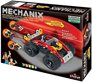Mechanix Monster Buggies Toy, Age 8 to 99 Unisex, enhancing practical education, STEM Learning, Mechanical Skills and Crea...