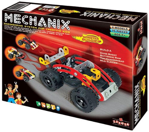 Mechanix Monster Buggies Toy, Age 8 to 99 Unisex, enhancing practical education, STEM Learning, Mechanical Skills and Creativity
