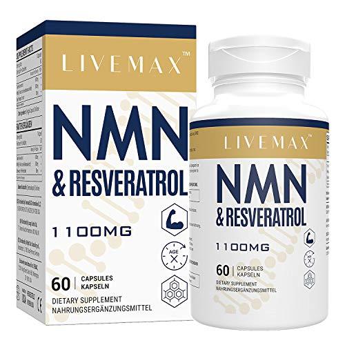 Maximale Absorption Trans-Resveratrol 600mg + NMN 500mg | 60 Vegane Kapseln | Hohe Antioxidantien | Vegan | Glutenfrei | Non GMO (1PACK)