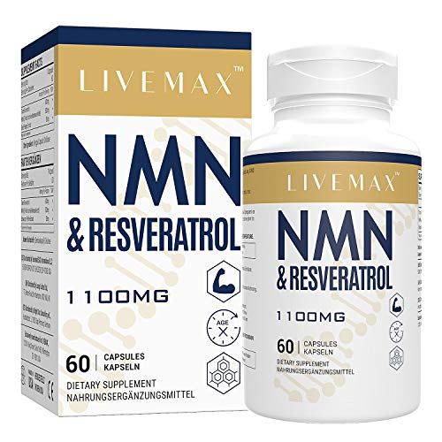 NMN+Resveratrol 60 Capsules, Powerful Antioxidant Supplement for Heart Health & Anti-Aging, Enhanced with Black Pepper Extract for Superior Absorption